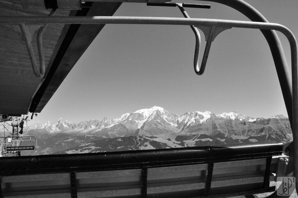 Mont-Blanc et télésiège