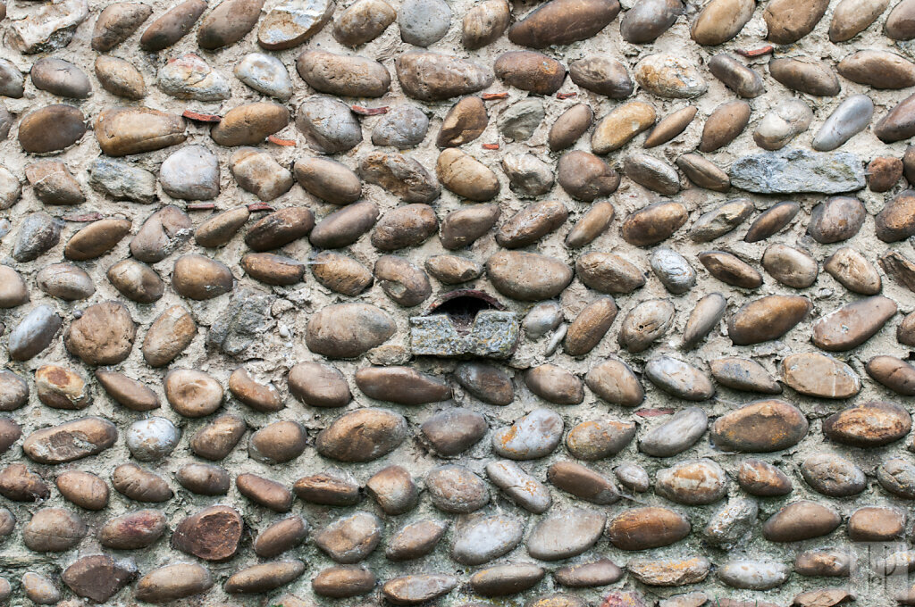Mur en galets